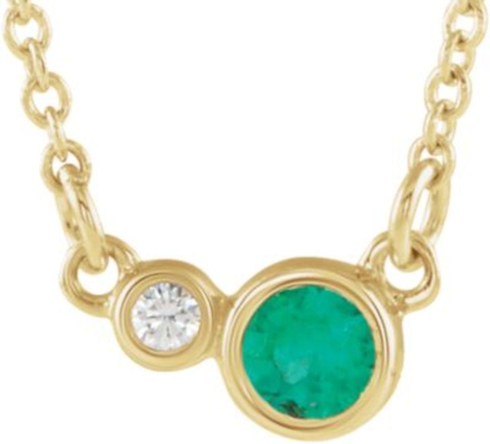 14K Rose Pink Tourmaline & .02 CTW Diamond Necklace by Bonyak Jewelry