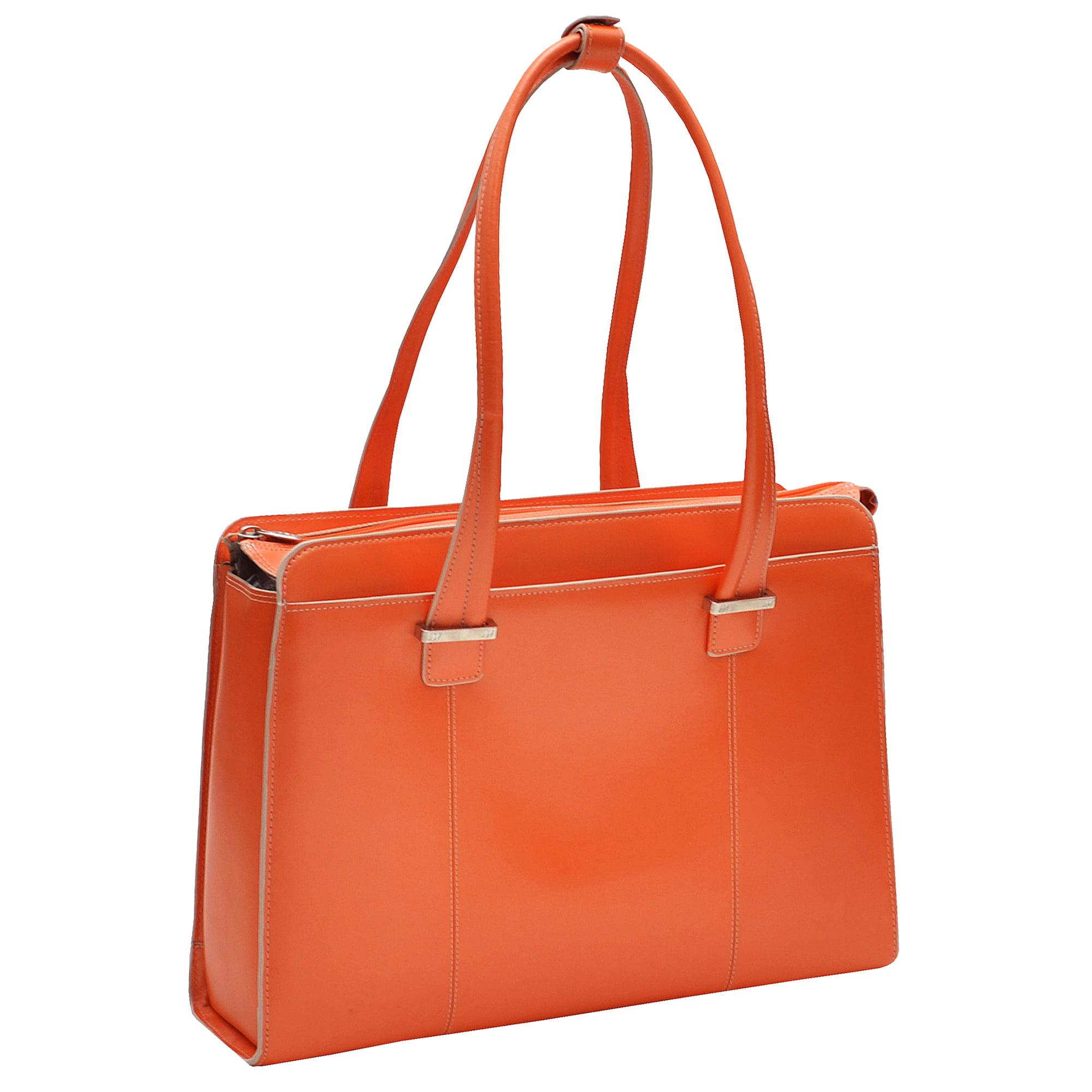 McKlein 96540 ALEXIS Leather Ladies Briefcase- Orange - image 1 of 4