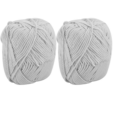 Gift Diy Scarf Sweater Hat Knitting Sewing Yarn String Cord Light Gray 100G 2Pcs