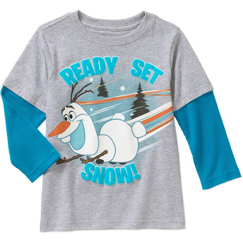 Disney Frozen Olaf Baby Toddler Boy Hangdown Graphic Tee Shirt