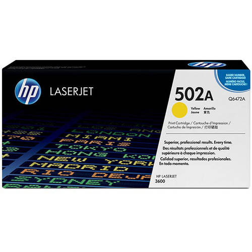 HP 502A (Q6472A) Yellow Original Laser Jet Toner Cartridge