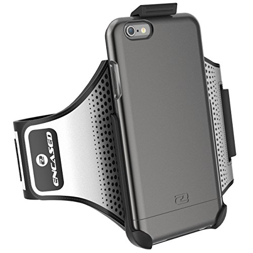"iPhone 6 Plus 5.5"" Armband & Sport Case (2 pc set, includes) Encased Click-N-Go Arm Band + Hybrid Cover"