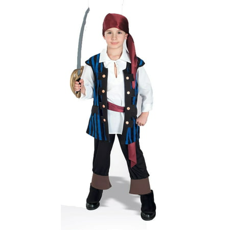 Rubies Boys Pirates of the Seven Seas Pirate King Child Costume (Medium) - Pirate Costume Kids