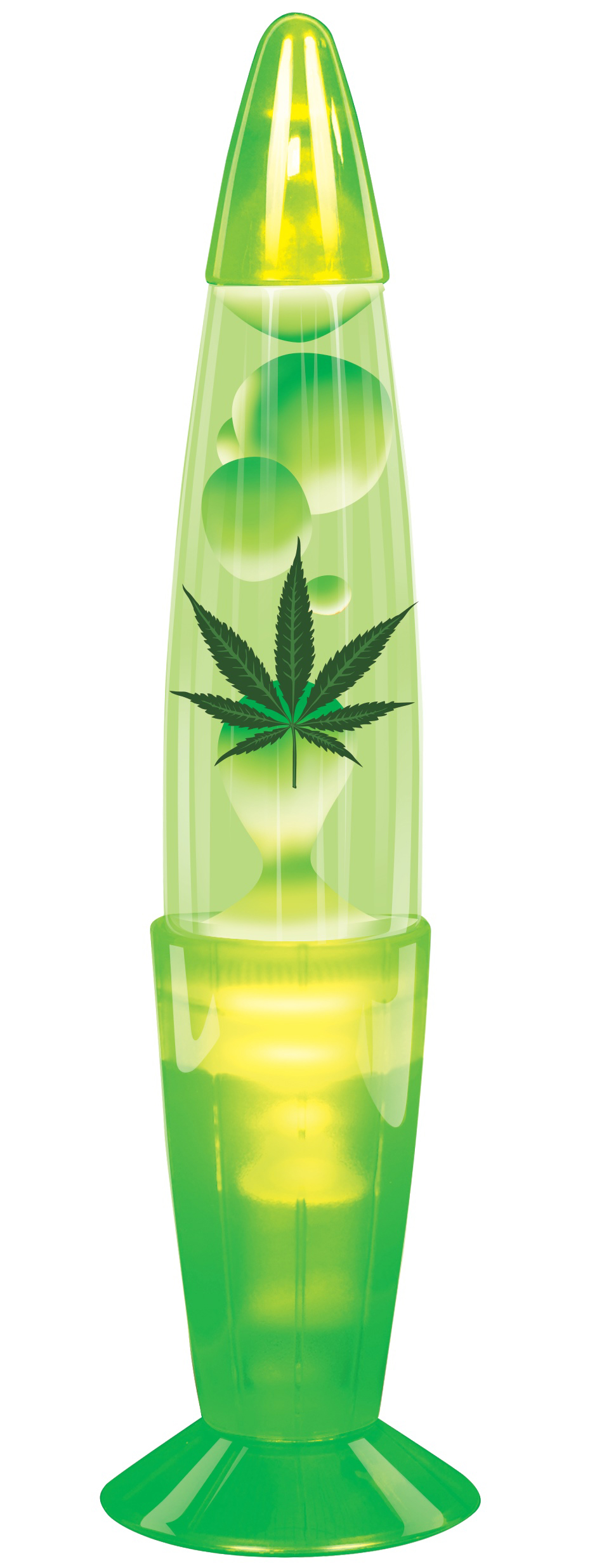 Forum Stoner Hemp Weed Party Light Decoration Lava Lamp, Green