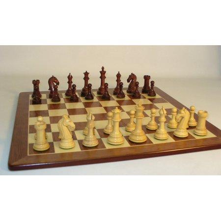 Rosewood Camelot Chess Men on Padauk Wood Chess Board