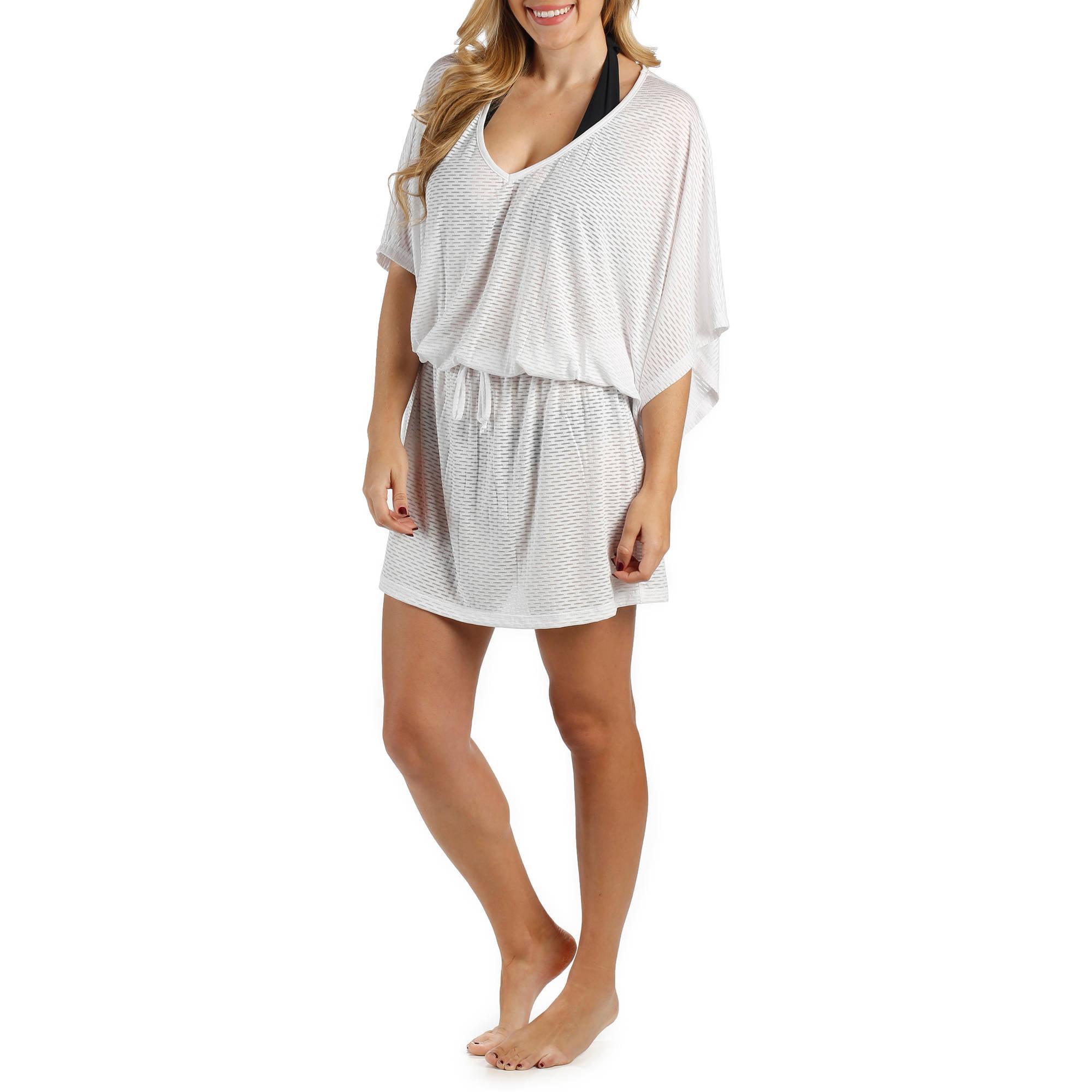 a74aae5500 Catalina - Women s Blouson Tunic Swim Cover-Up - Walmart.com