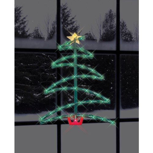 175 lighted christmas tree silhouette walmartcom