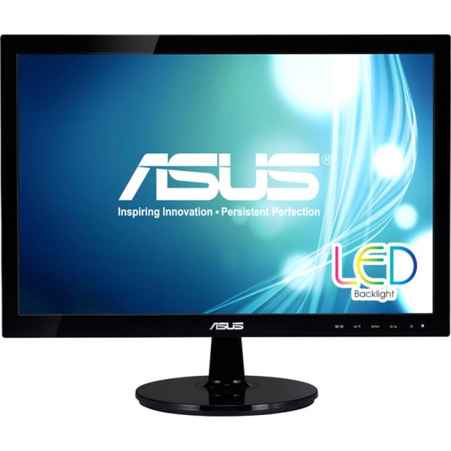 "Asus VS197T-P 18.5"" LED LCD Monitor - 16:9 - 5 ms - Adjustable Display Angle - 1366 x 768 - 16.7 Million Colors - 250 Nit - 50,000,000:1 - WXGA - Speakers - DVI - VGA - 21 W - Black - EPEAT Gold, ErP,"