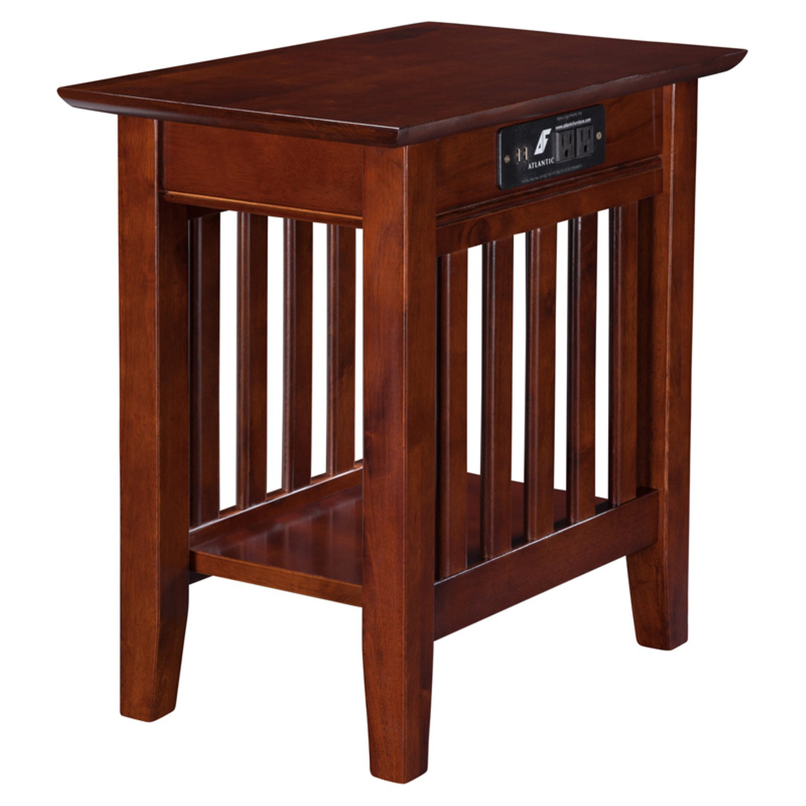 Awesome Atlantic Furniture Houlton Chair Side Table With Charging Station