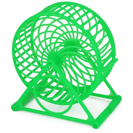 Pet Hamster Gerbil Small Animals Plastic Play Stand Wheel Toy Holder (Green Small Animal)