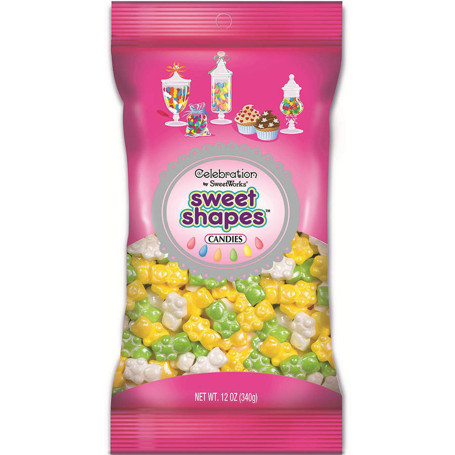 Celebrations By Sweetworks Candy Sweet Shapes, 12oz Bag