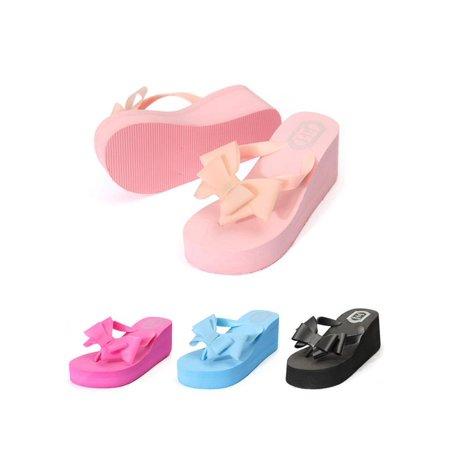 c3bc3d9e5159 Meigar Women Beach Sandal Flip Flops Bowknot Slipper Shoes - Walmart.com