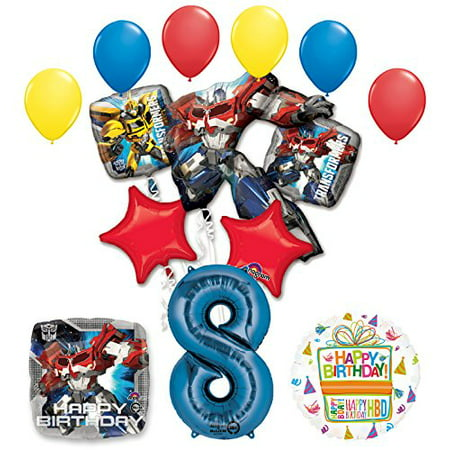 The Ultimate Transformers 8th Birthday Party Supplies And Balloon Decorations