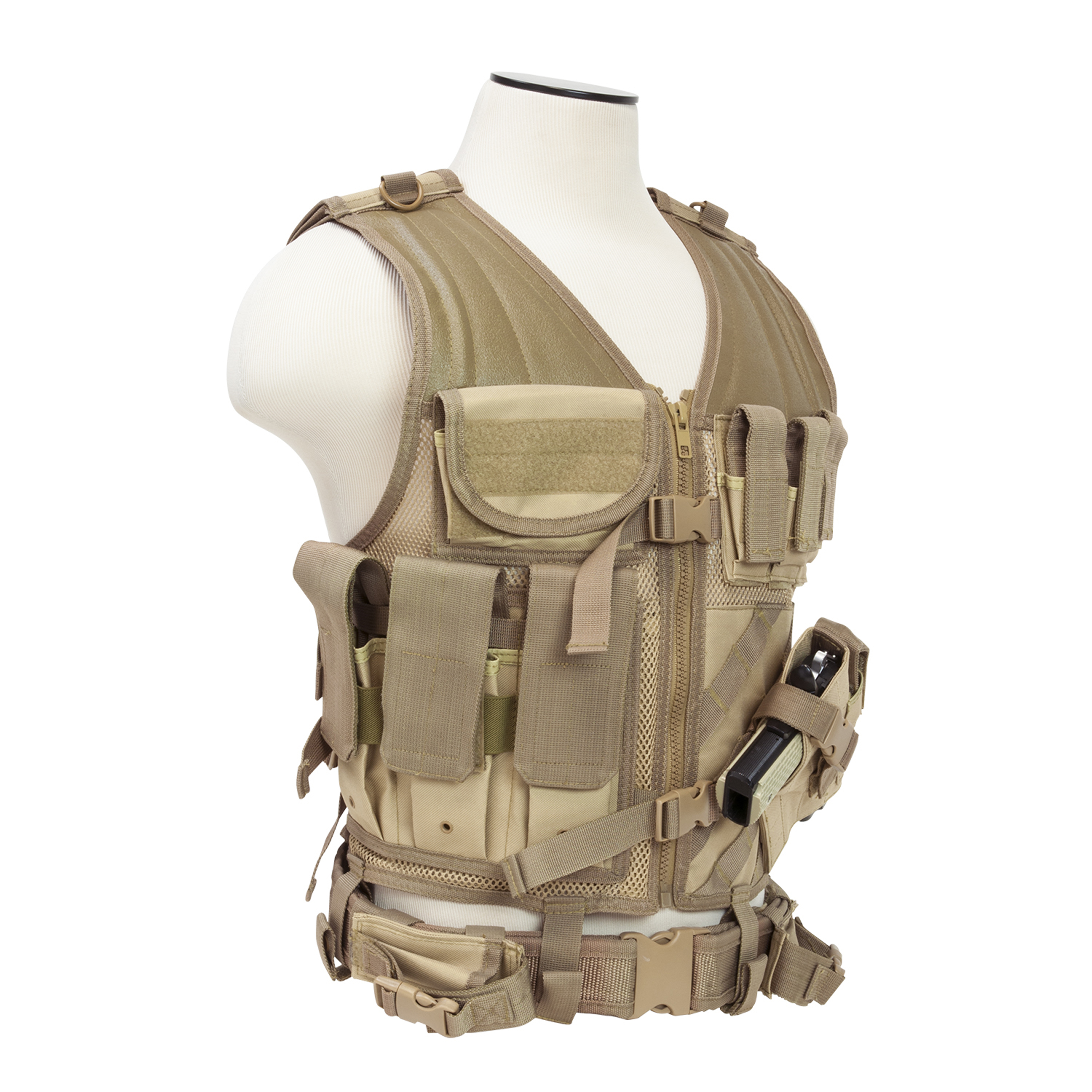 NcStar Tactical Vest Tan, XL-XXL+