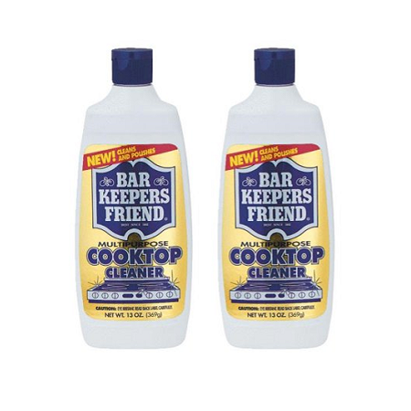 (2 pack) BAR KEEPERS FRIEND COOKTOP CLEANER 13oz