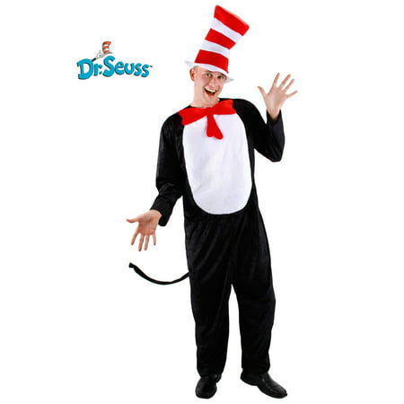 2 Piece Adult Cat In the Hat Costume](Dr Seuss Cat In The Hat Costume)