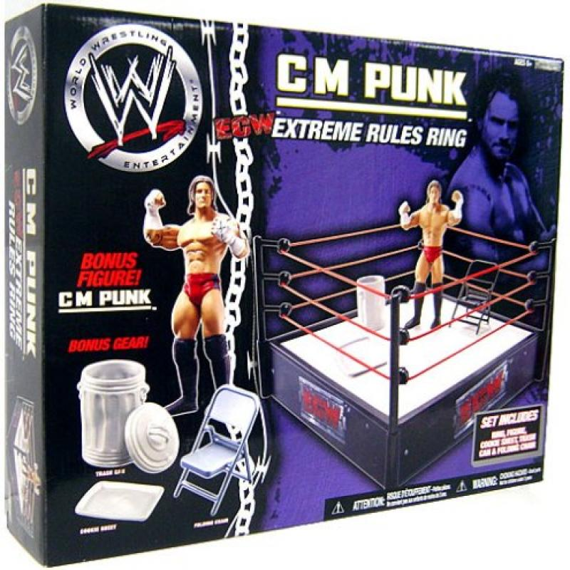 Jakks WWE Wrestling Ring Exclusive Extreme Rules Ring wit...