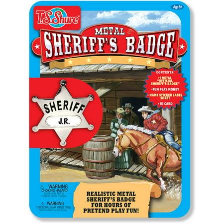 T.S. Shure Sheriff's Badge Metal Tin Playset