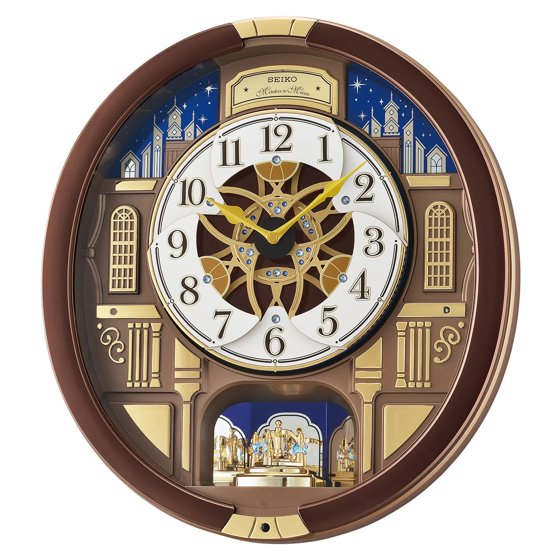 Seiko Melodies In Motion Musical Wall Clock With Rotating