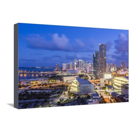 Elevated View over Biscayne Boulevard and the Skyline of Miami, Florida, USA Stretched Canvas Print Wall Art By Gavin Hellier](Biscayne Boulevard)