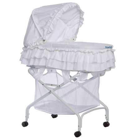 Dream On Me Layla 2-In-1 Bassinet To Cradle, White
