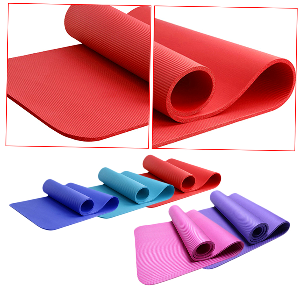 Non-Slip 10mm Ultra Thick Yoga Mat Fitness Exercise Sports Pilate Pad New