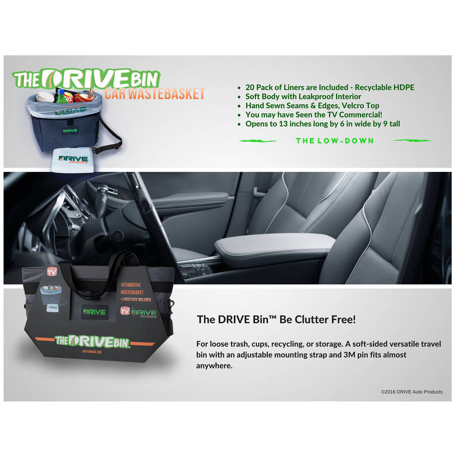 40-Pack Car Garbage Can Liner Refills - The Drive Bin As Seen On TV Collection by Drive Auto Products