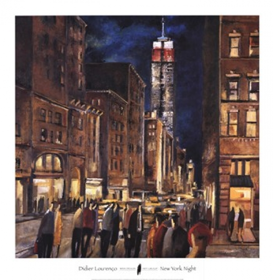 New York Night Poster Print by Didier Lourenco (36 x 37)