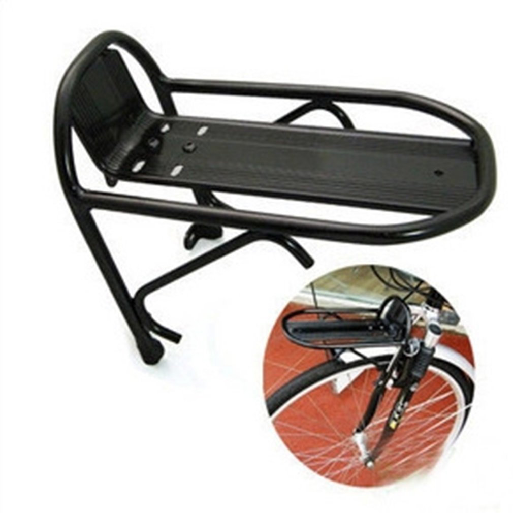 Cycling Bike Aluminum Alloy Front Rack Bracket Bicycle Carrier Pannier Racks