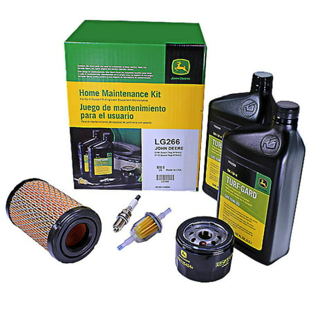 John Deere LG266 Home Maintenance Kit D100 D105 D110 RC12YC Spark Plug