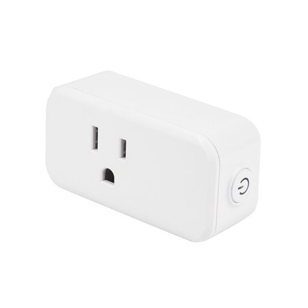 Smart Plug Wi-Fi Enabled Mini Outlets Smart Socket Control Your Electric De Smart Plug Wi-Fi Enabled Mini Outlets Smart Socket Control Your Electric Devices From Anywhere Works With Amazon Alexa And IFTTT Google AssistantProduct parameters: Input voltage:AC100240V Max current:15A  WIFI standard:WIFI 802.11 b/g/  WIFI frequency:2.4GHz  Size:D75*40MM  Weight:80gOperating Temperature: -1045Operating Humidity: 80%RHRated power: 1100WSecurity: WEP/WPA-PSK/WPA2-PSKSupport system: Android \IOSSmart Remote Control: The smart plug works with Amazon Alexa, echo dot and Google home to manage your home devices through voice control. You can control home appliances remotely and smartly by your phone or tablet using the smart life App.Timing Function:  Switch your home appliances On/Off automatically and intelligently by setting a specific time with the smart plug. You can schedule the air conditioner, Pre-set your house lit before coming home.Easy To Use And Install:  This smart plug connect with internet through wi-fi network, No Hub and subscription required, just plug it into an outlet,  connect a device to the smart plug, and wirelessly control home appliances whenever and wherever.Energy Saving And Safe:  With the convenient timer function, the smart plug can protect the devices safety, prevent from overcharging and overheating, and reduce energy use. Wide Application: The smart socket can be used for any home appliances, such as lights, electric oven, toaster, fan, air-condition, coffee mill, etc. strong signal ensures the connection between the network and socket.   Packages include:1X Smart socket1x User Manual
