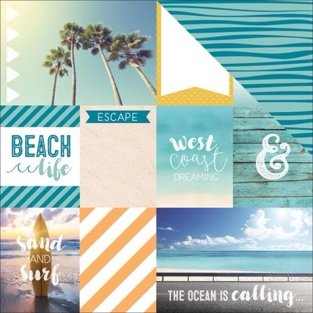 Discover Usa Double Sided Cardstock 12 X12  West Coast Tags   Case Pack Of 15