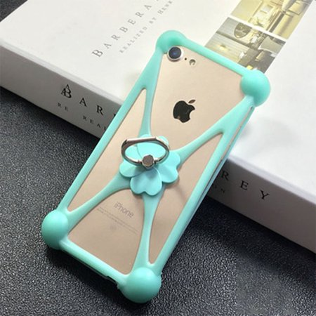 AkoaDa 1pcs 2019 new four-leaf clover ring buckle universal mobile phone case forfor iphone6s 7 8p Xs
