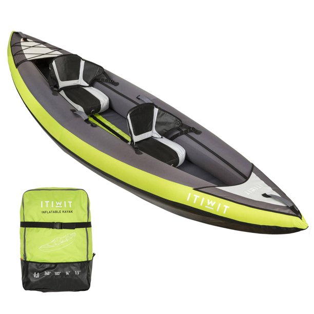 Itiwit by DECATHLON - Itiwit, Inflatable Recreational Sit-on Kayak, 2 Person