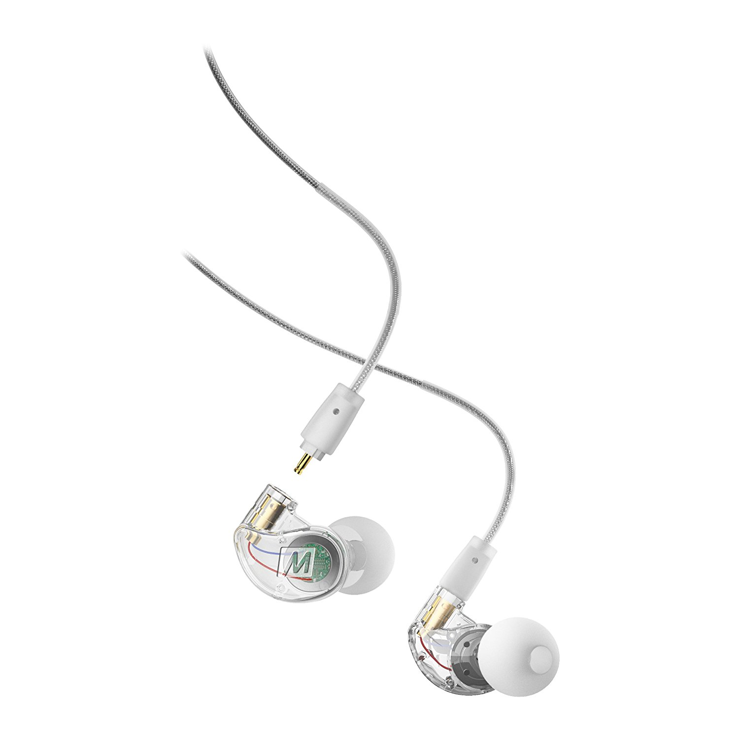 MEE audio M6 PRO 2nd generation Universal-Fit Noise-Isolating Musicians' In-Ear Monitors with Detachable Cables (Clear)
