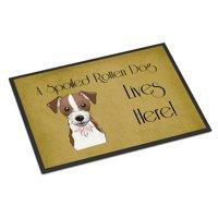 Jack Russell Terrier Spoiled Dog Lives Here Door Mat