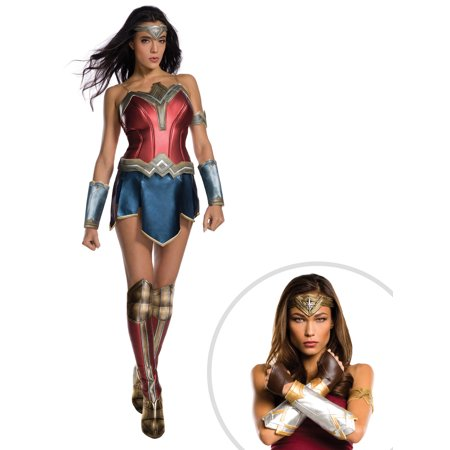 Wonder Woman Movie - Wonder Woman Adult Costume and Batman V Superman: Dawn of Justice- Wonder Woman Deluxe Set](Superman And Wonderwoman Costumes)