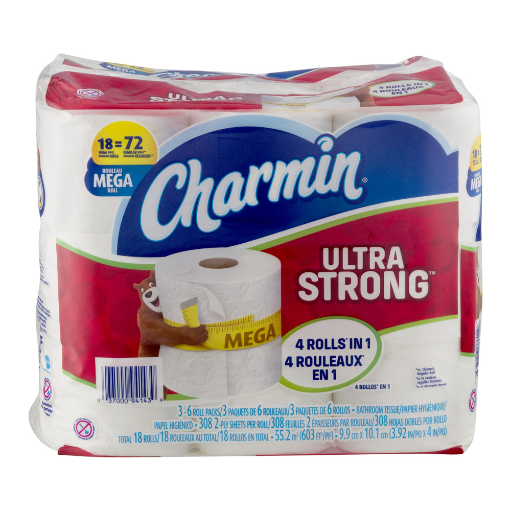 Charmin Ultra Strong Bathroom Tissue Mega Rolls - 18 CT