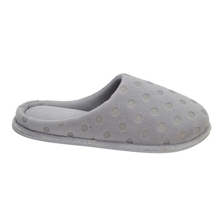 DF by Dearfoams Women's MF Terry Dotted Clog Slipper