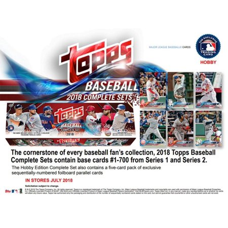 2018 Topps Baseball Factory Hobby Set 705 Cards With 5 Bonus Parallels
