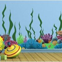 """Coral Wall Decor Decals ~ (34) Stickers from 1""""-14"""""""