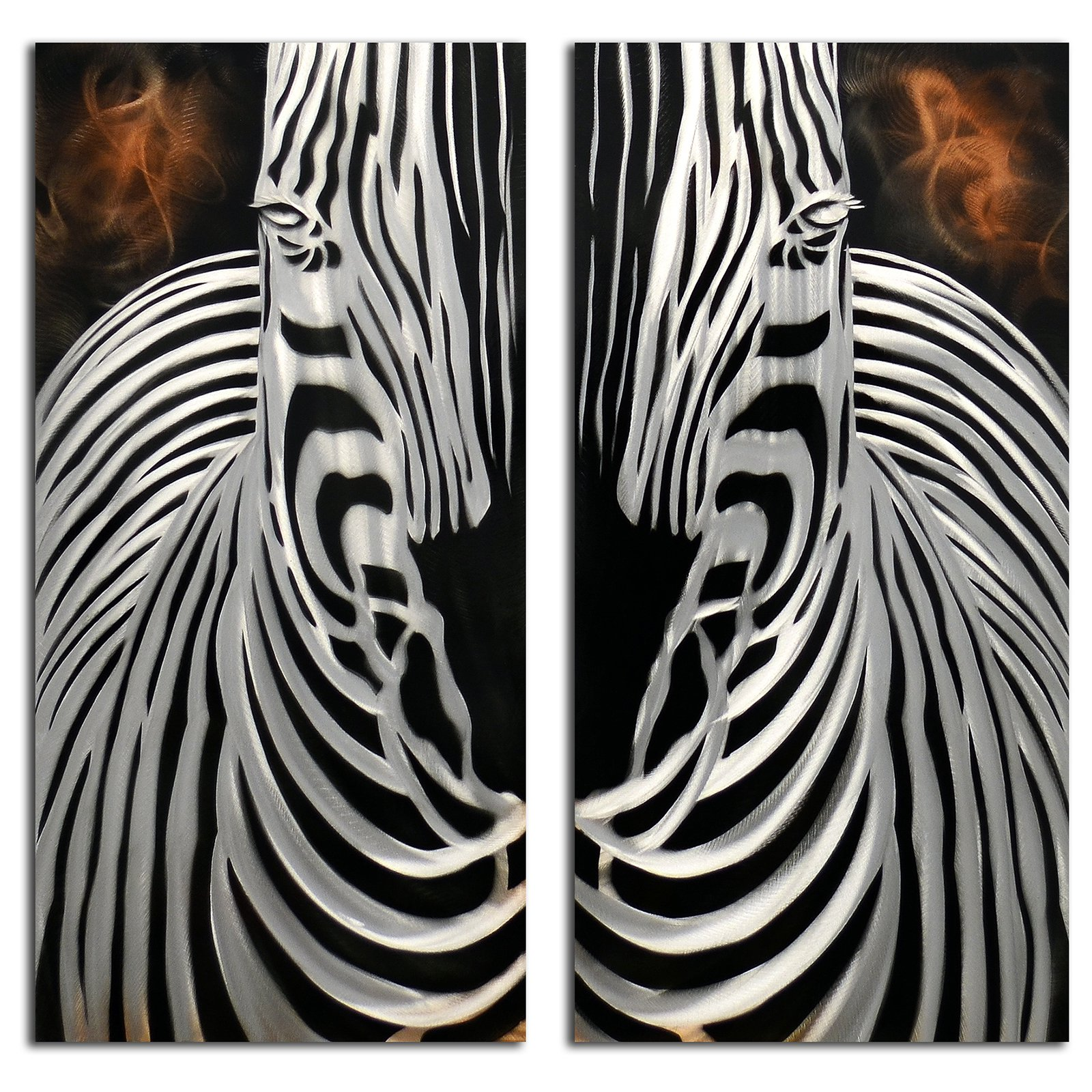 OMAX Decor Zebra Overlooking Wall Art - Set of 2