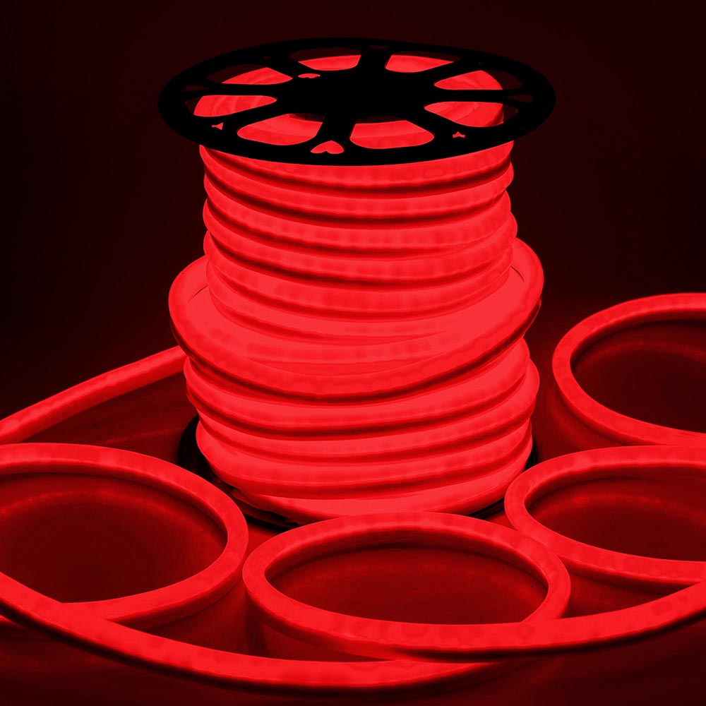 DELight 150 FT 110V Red Flexible LED Neon Rope Light Indoor Outdoor Holiday Valentines Party Decoration Lighting by Yescom