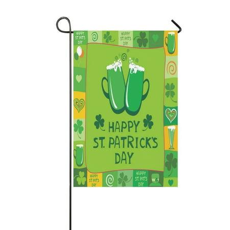MYPOP St Patricks Day Long Garden Flag Banner 12 x 18 inch