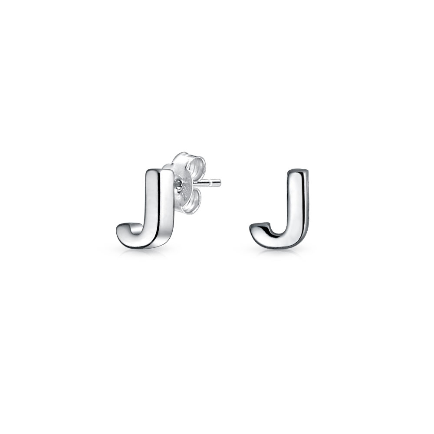 Silver Stud earrings Elegant earrings Geometric Zc Earrings Minimal Stud earrings Minimalist jewelry Circle Earrings