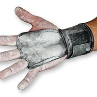 JerkFit WODies Full Palm Protection to Reduce Hand Tearing While Adding Crucial Wrist Support for Weightlifting, Workouts WODs, Cross Training, Fitness and Calisthenics. (Pair) (Black Medium)