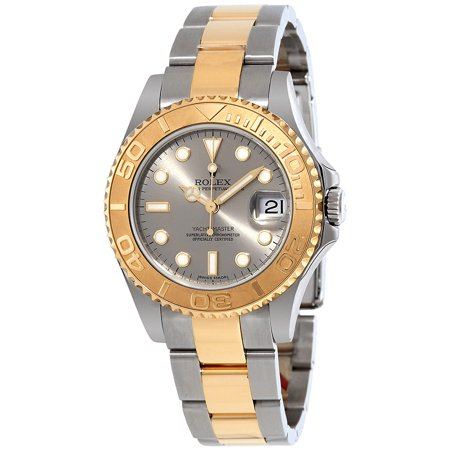 Pre-owned Rolex Yacht-Master Grey Dial Stainless Steel and 18K Yellow Gold Oyster Bracelet Automatic Men's (Rolex Yacht Master Ii Stainless Steel Price)