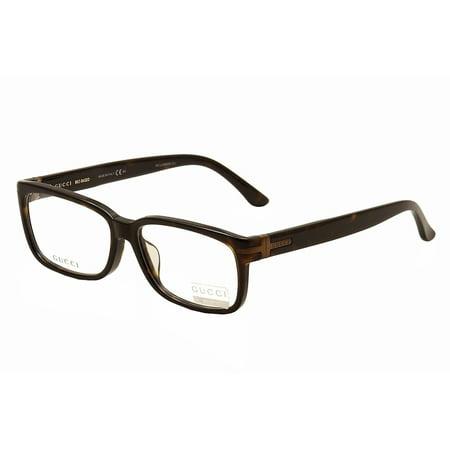 Gucci Eyeglasses 1064/F 1064F WR9 Brown Havana Optical Frame 57mm ...
