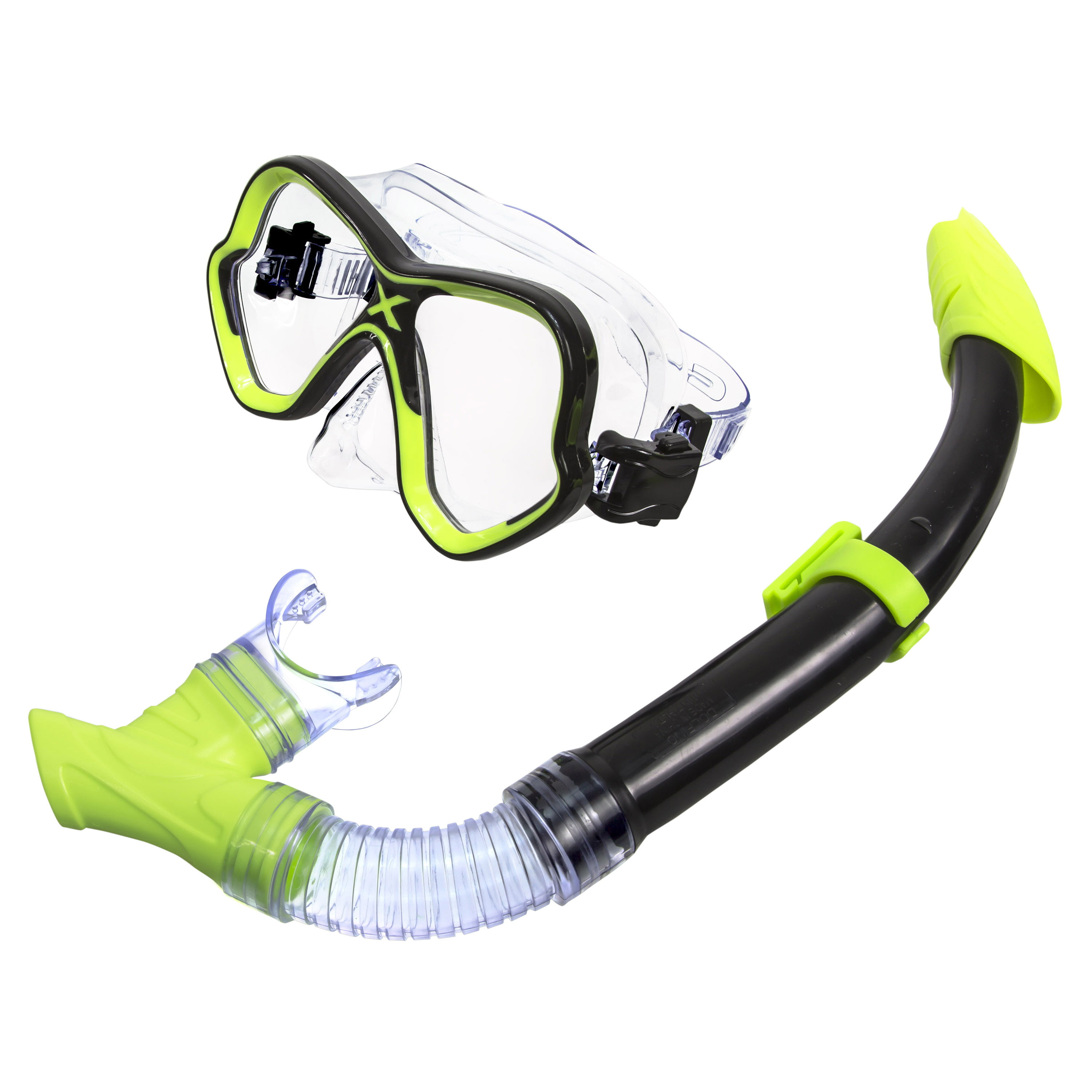 Adult Mask and Snorkel Set Yellow by Aqua Leisure