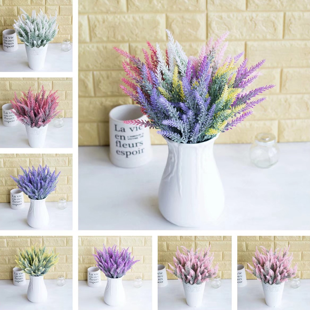 Heepo 1Pc Artificial Fake Lavender Flower Plants Wedding Party Home Office Decoration